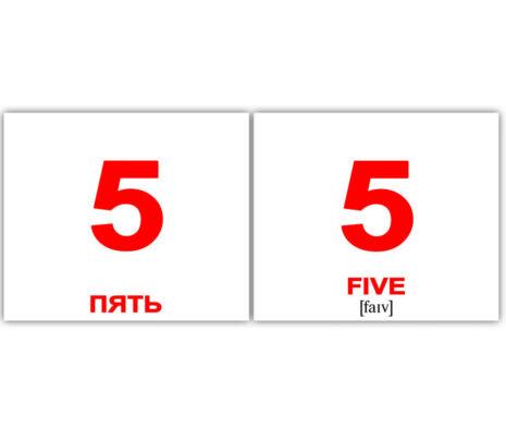 """Мини-карточки Домана """"Numbers/Числа"""" рус/англ."""