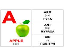 """Міні-картки Домана """"Аlphabet/Абетка"""" укр/англ."""