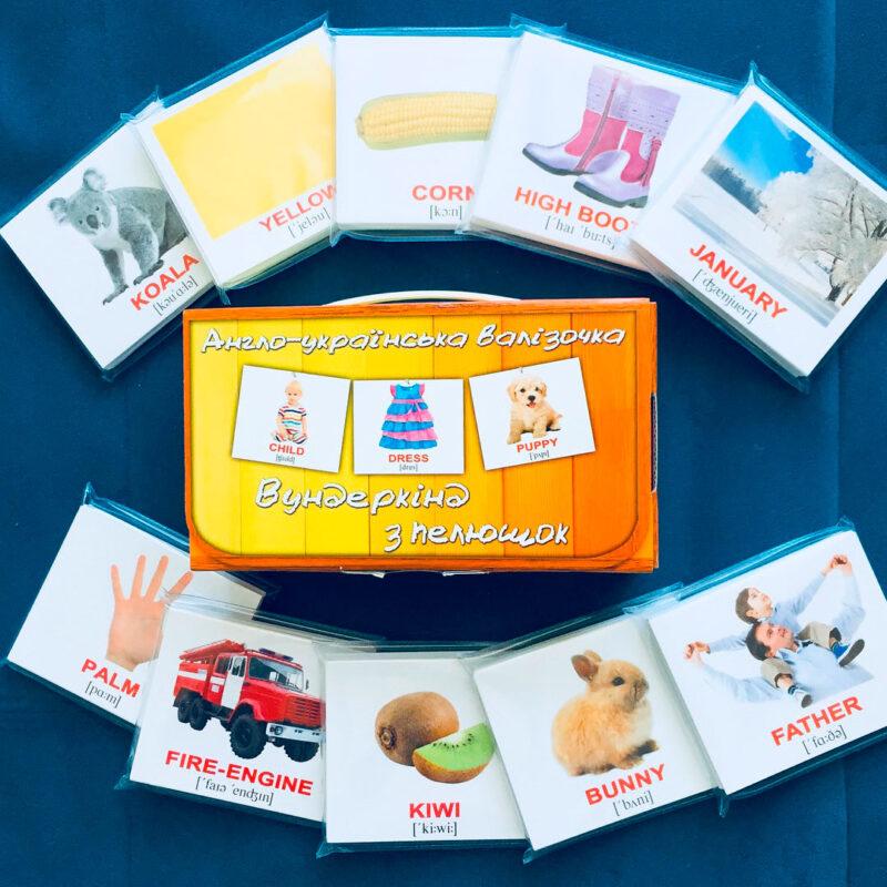 карточки домана набор английский украинский купити карточки домана на українській та англійській мові