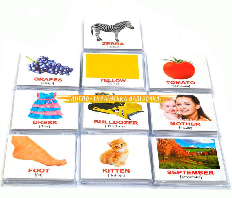 купити карточки домана на українській та англійській мові