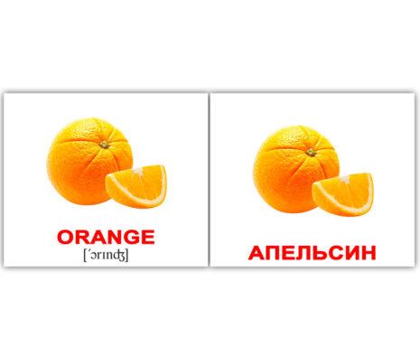 """Мини-карточки Домана """"Fruit/Фрукты"""" рус/англ."""