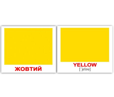 """Міні-картки Домана """"Colors/Кольори"""" укр/англ."""