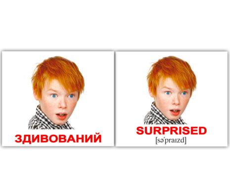 """Міні-картки Домана """"Emotions/Емоції"""" укр/англ."""