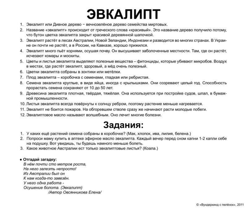 """Ламинированные карточки Домана """"Деревья"""" на рус."""