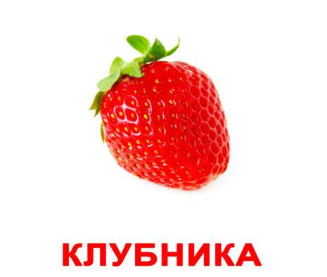 """Ламинированные карточки Домана """"Ягоды"""" на рус."""