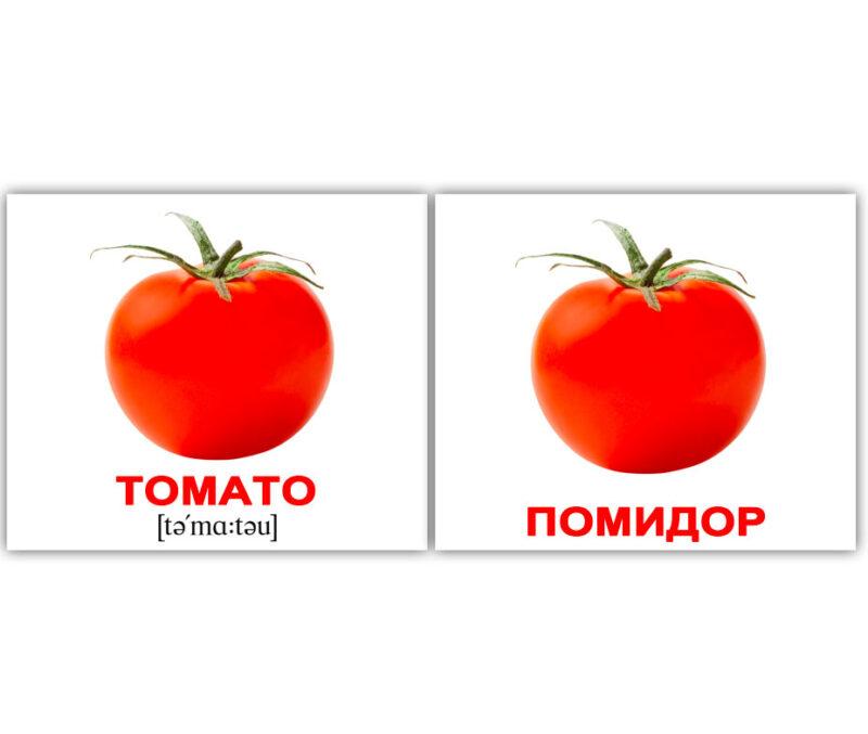 """Мини-карточки Домана """"Vegetables/Овощи"""" рус/англ."""
