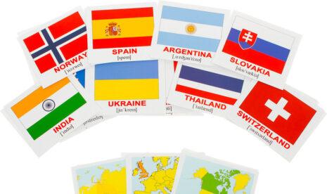 "Мини-карточки Домана ""Countries.Flags.Capitals/Страны.Флаги.Столицы"" рус/англ."